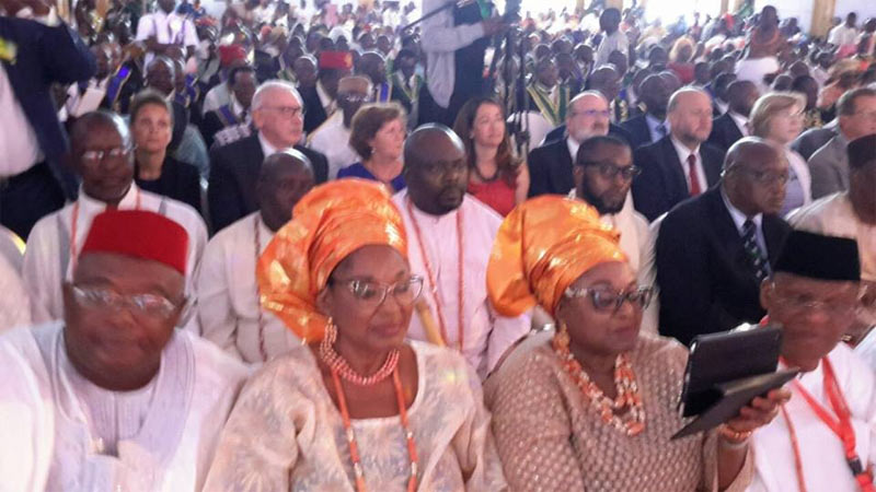 Photos: Obi of Onitsha, Ooni, Osinbajo, Dangote, others in Edo State for Oba of Benin coronation