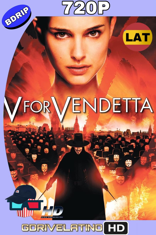 V de venganza (2006) BDRip 720p (Latino-Inglés) MKV
