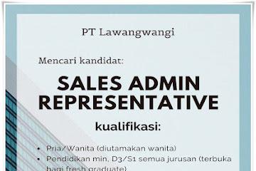 Lowongan Kerja Bandung Sales Admin PT. Lawangwangi