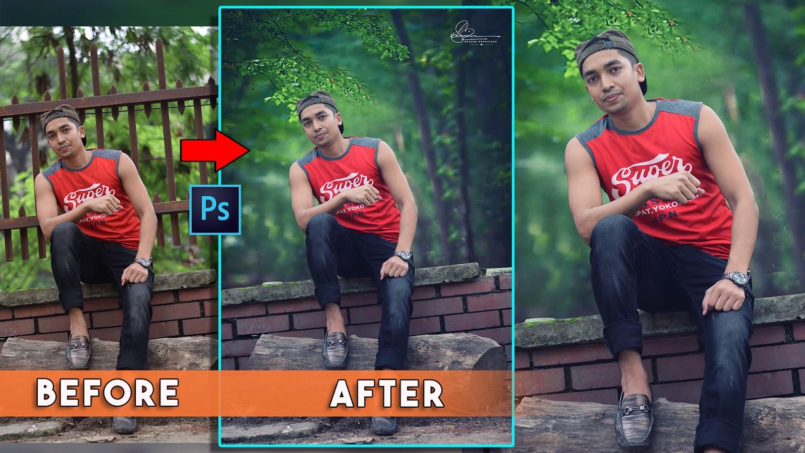 outdoor portrait photo manipulations