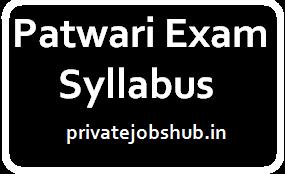 Patwari Exam Syllabus