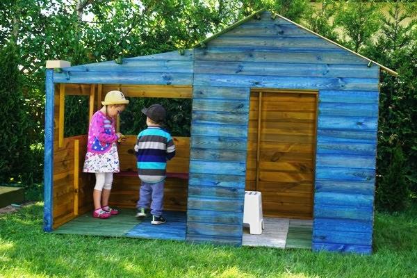 Drewniany domek ogrodowy dla dzieci Ela jak zmontować