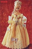 Vestido de Crochê Para Bonecas Com Tradução e Gráfico