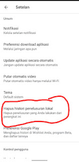 Cara Menghapus Pencarian Di Play Store
