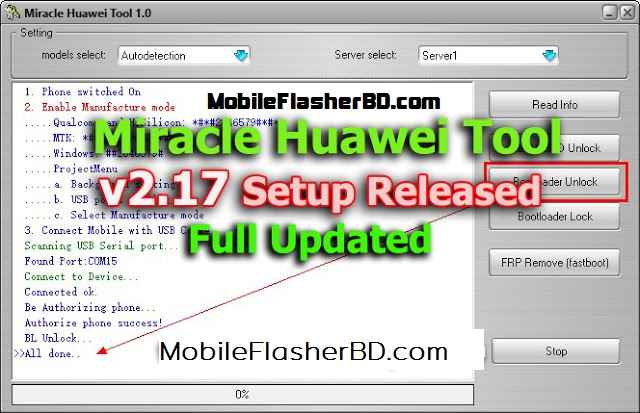 Download Miracle Huawei Tool v2.17 Latest Update Unlock Tool Free For All Without Password