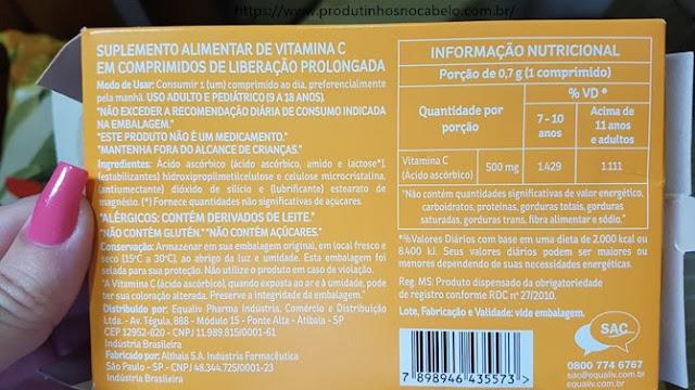 bula da vitamina c equaliv