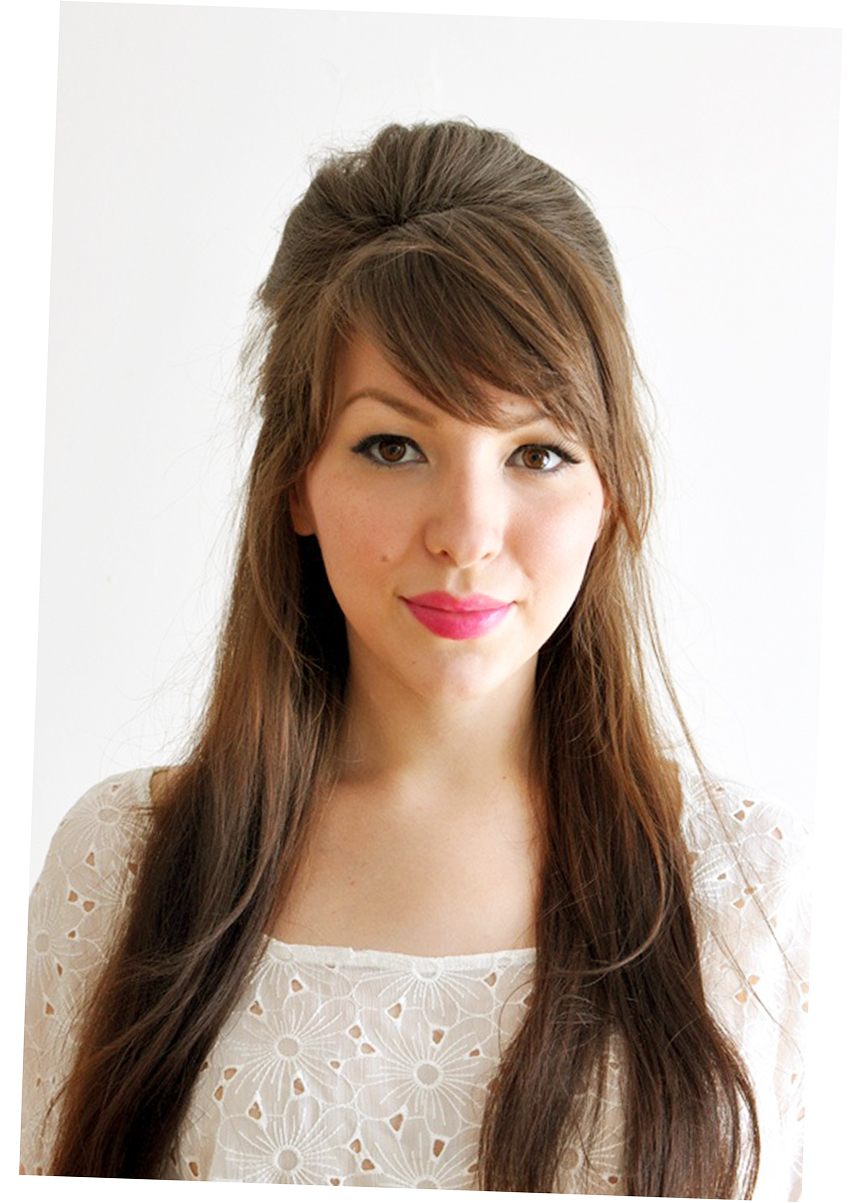 different hair style for long hair with bangs Picture