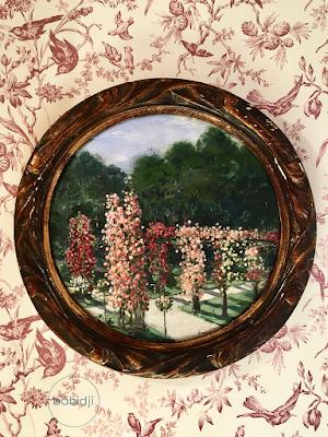 tableau de fleurs dans la suite du château de riell