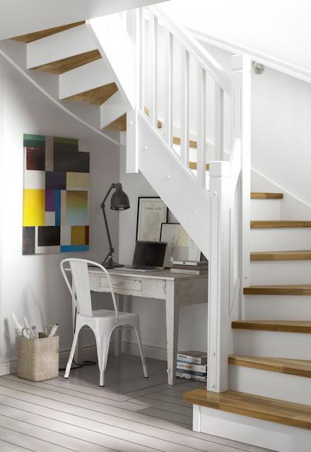 Oficina en casa bajo la escalera
