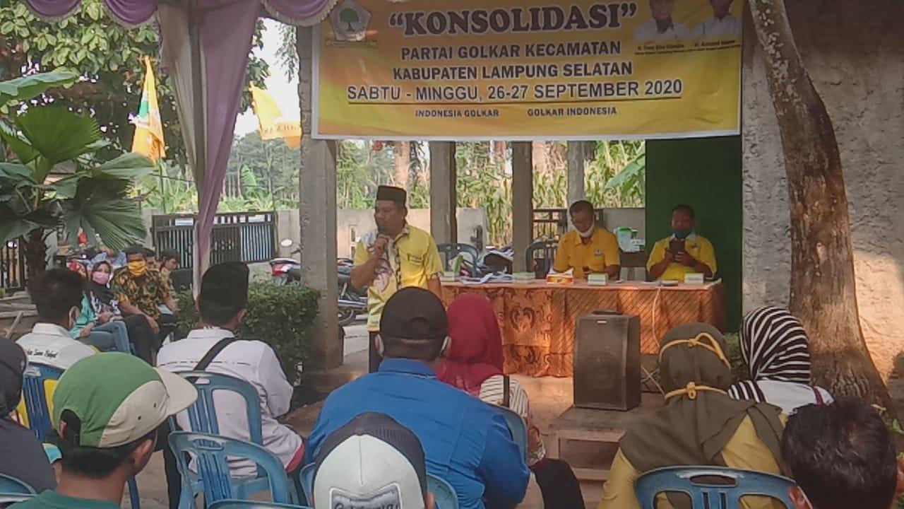 PK Partai Golkar Kecamatan Bakauheni Siap Berjuang Menangkan Tony-Antoni