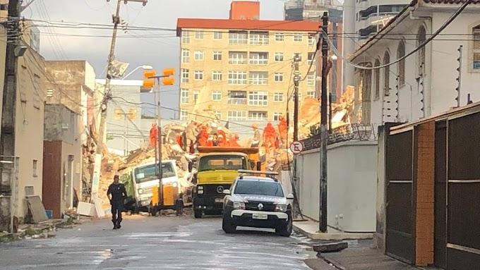 Buscas por sobreviventes do Edifício Andrea entram no 2º dia; 8 estão desaparecidos