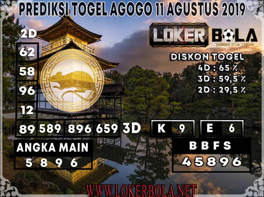 PREDIKSI JITU AGOGO LOKERBOLA 11 AGUSTUS 2019