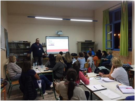 Βασική Εκπαίδευση Στελεχών Αντιμετώπισης Καταστροφών στον Ελληνικό Ερυθρό Σταυρό Ναυπλίου