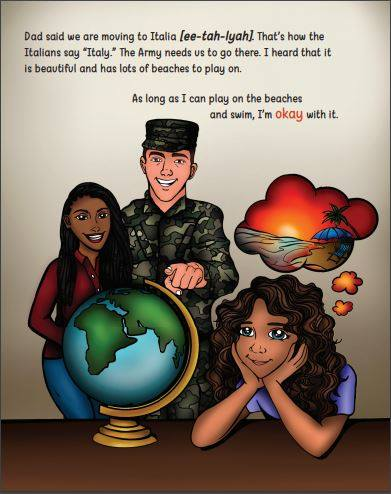 Learn about life as a military brat, geography, new vocabulary,  and story elements with the book I Move A Lot and That's Okay by Shermaine Perry-Knights.