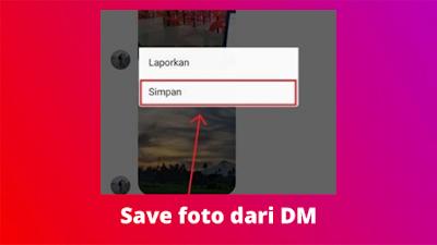 Cara Menyimpan Foto Dari DM Instagram Ke Galeri