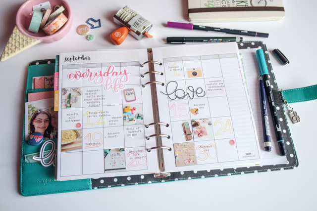 scrappin'planner by kushi settembre ottobre 2016 2| www.kkushi.com