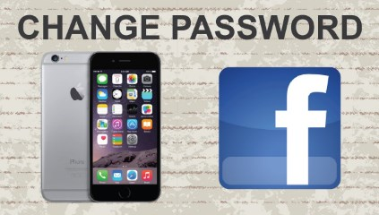 how do you change your password on facebook mobile
