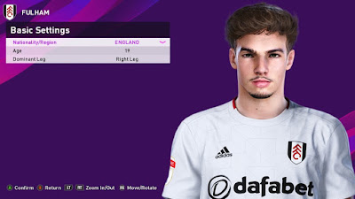 PES 2020 Faces Matt O'Riley by Rachmad ABs