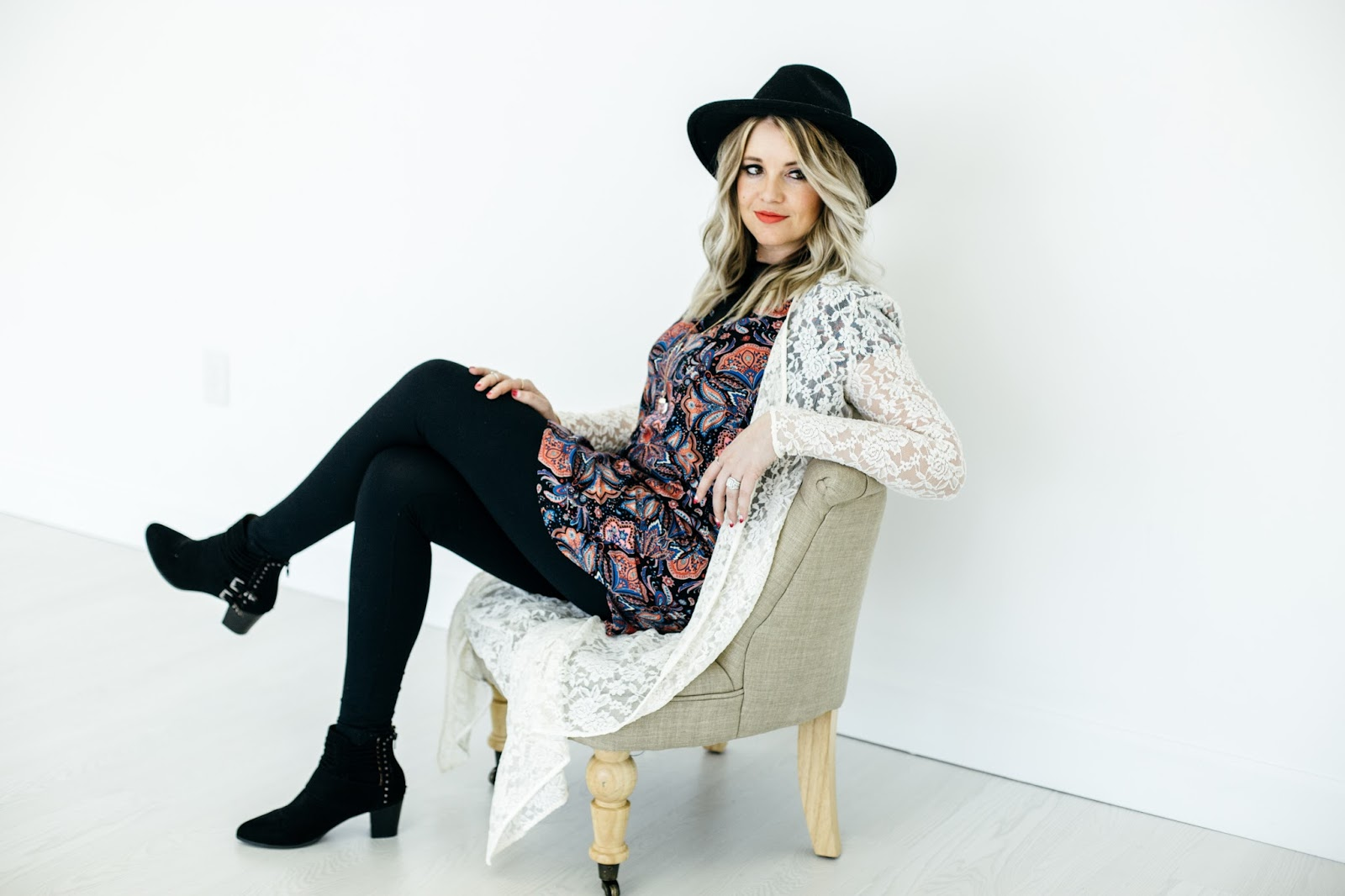 Utah Fashion Blogger, Blanqi Girls, thredUP, Lace Duster