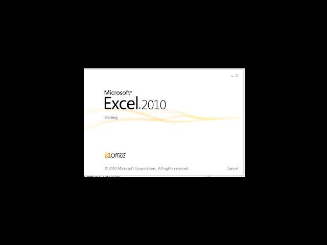 Tampilan dari microsoft excel 2010