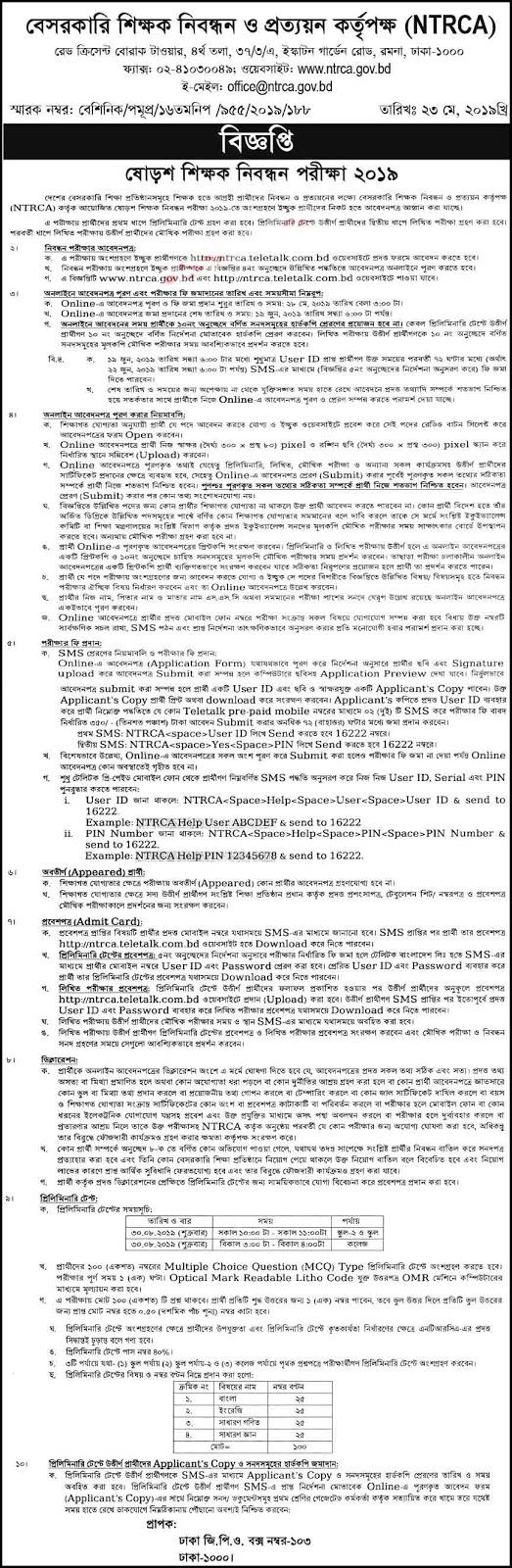NTRCA Job Circular 2019