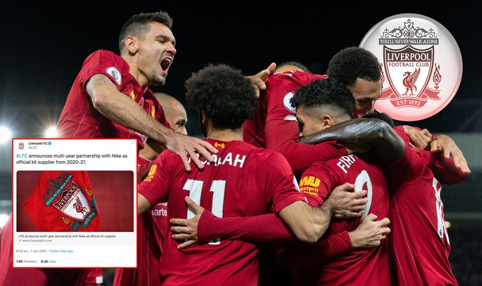 Liverpool Announce British Record Partnership With Nike Worth £80m-Per-Year