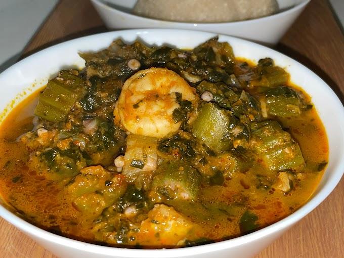 Easy Nigerian Okra Soup Recipe For Busy Moms | Healthy Nigerian Okra Soup Recipe  & Video