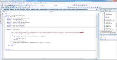 Membuat Koneksi VB.Net dengan Database Sql Server