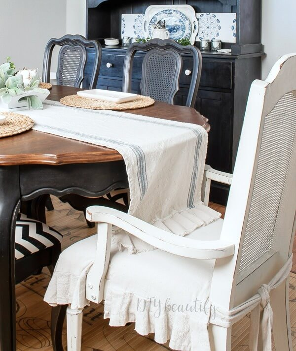 white chalk painted chair