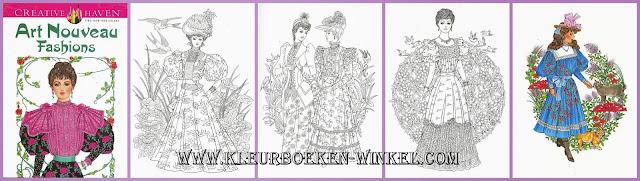kleurboek art nouveau fashions