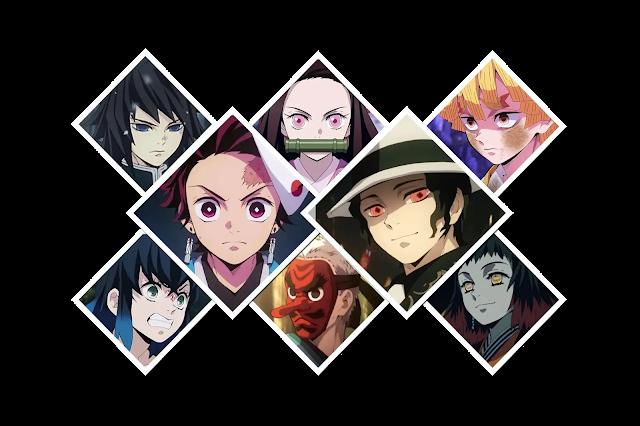 شخصيات انمي قاتل الشياطين