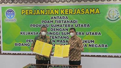 Kejati Sumut Jalin Kerjasama Bidang Datun dengan PDAM Tirtanadi