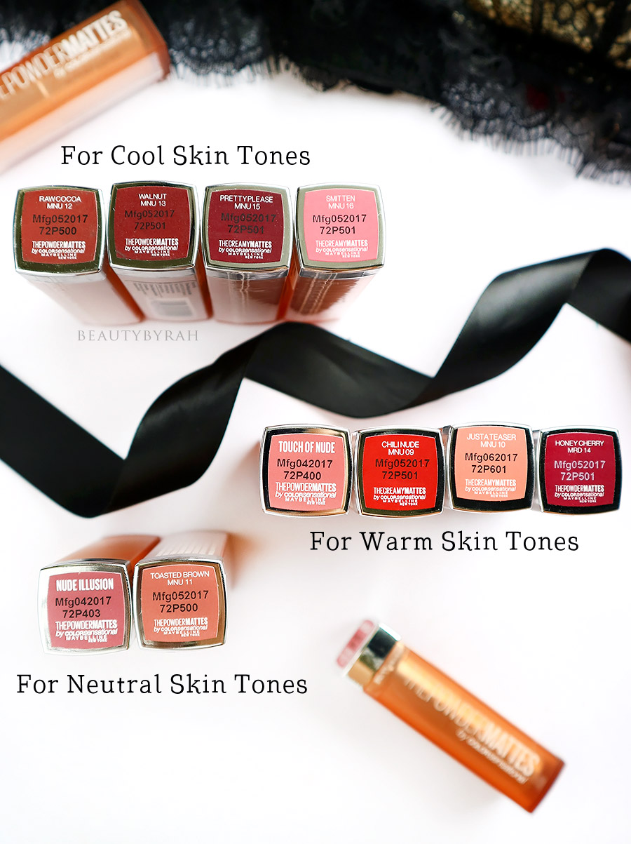 Maybelline Color Sensational IntiMatte Nudes Lipstick Swatches Singapore