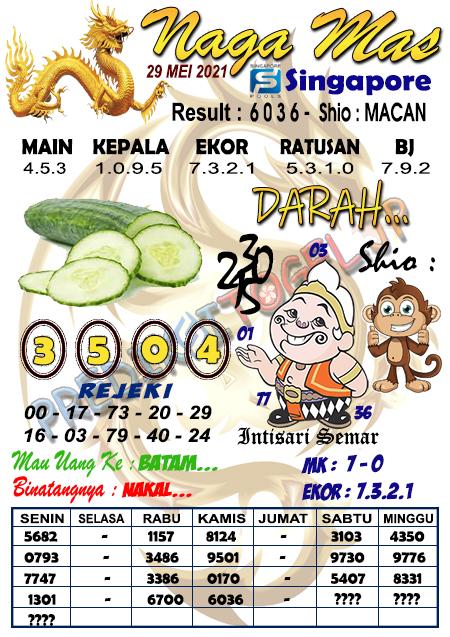 Syair Naga Mas SGP Sabtu 29 Mei 2021