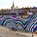 Geometria e psicodelia nos murais de Felipe Pantone
