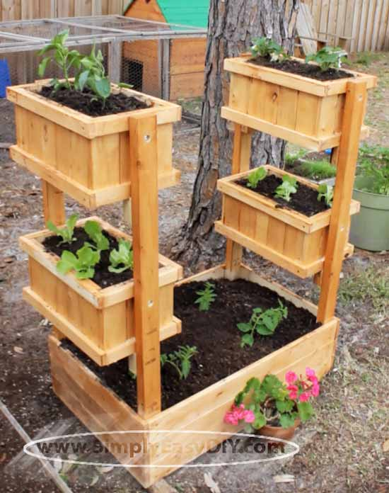 Simply easy diy vertical garden planter for Vertical garden planters diy