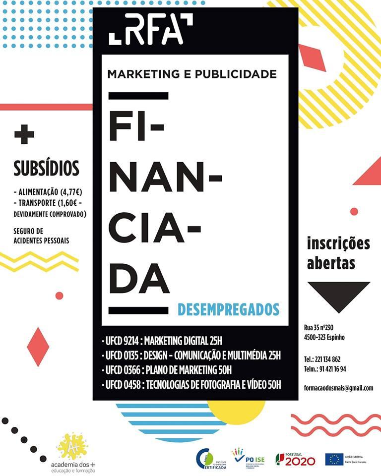 Cursos financiados de marketing em Espinho