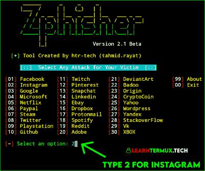 Termux Zphisher : Advance Phishing Tool For Termux