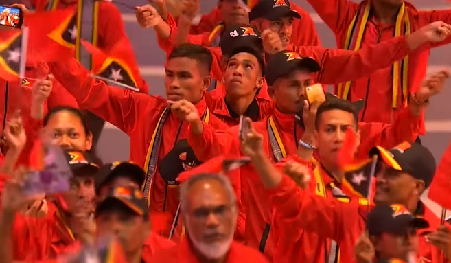 Delegates from Timor Leste during the Opening Ceremony of the 30th SEA Games.
