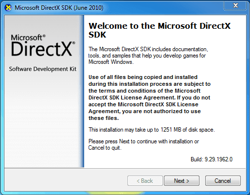 DirectX SDK Latest Version download for windows 7