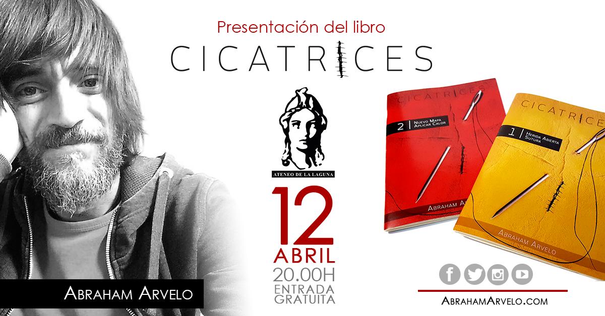 Cicatrices, el nuevo trabajo de Abraham Arvelo se presenta en el Ateneo de La Laguna