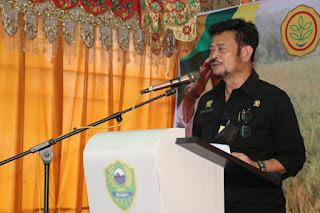 Menteri Pertanian memuji Kinerja Pemerintah  Kabupaten Barru Dalam Upaya Peningkatan Produksi Pertanian