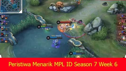 Peristiwa Menarik MPL ID Season 7 Week 6