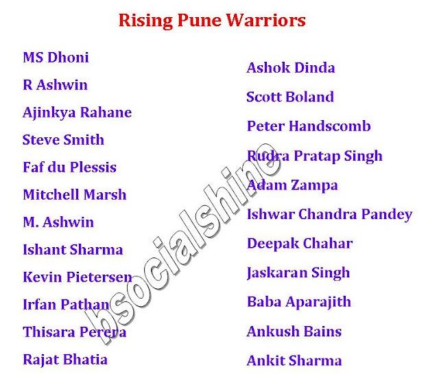 IPL 9 2016 All Team Squad Players List (Final Confirmed),Vivo IPL 9 2016 all team player list.,ipl 9 final player list,ipl 2016 all team squads,player list,latest player list,ipl player list,all team squad,list after auction,2016 ipl player list,ipl 9 team squad,ipl 9 2016 schedule,ipl 9 all teams,Gujarat Lions,Mumbai Indians,Royal Challengers Bangalore,Kolkata Knight Riders,Delhi Daredevils,Kings XI Punjab,Sunrisers Hyderabad,Rising Pune Warriors Vivo IPL 9 2016 all team player list..  Click here for more detail..   Gujarat Lions Team Squad Mumbai Indians Team Squad  Royal Challengers Bangalore Team Squad Kolkata Knight Riders Team Squad Delhi Daredevils Team Squad Kings XI Punjab Team Squad Sunrisers Hyderabad Team Squad Rising Pune Warriors Team Squad