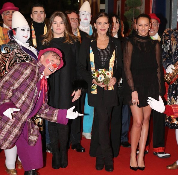 Princess Stephanie of Monaco, Pauline Ducruet and Camille Gottlieb attended the 42nd International Circus Festival at the Chapiteau of Monaco in Monte Carlo