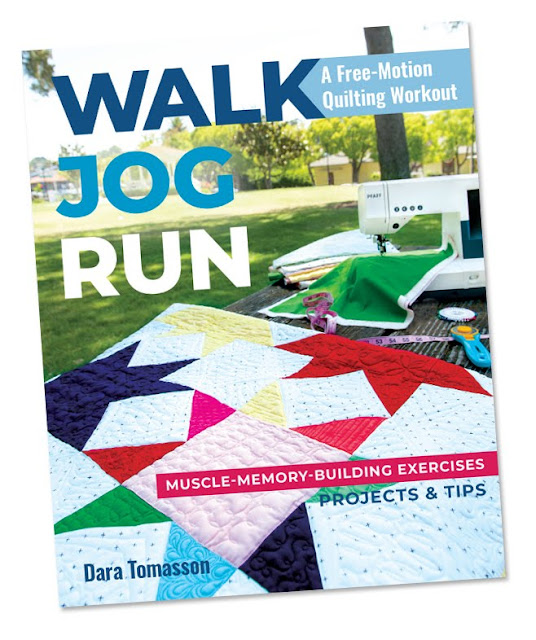 Walk Jog Run: A Free-Motion Quilting Workout book by Dara Tomasson found on A Bright Corner