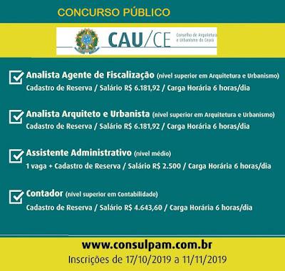 CAUCE lança edital de concurso para nível médio e superior! Até R$ 6.181,92!