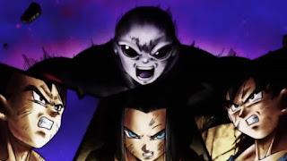 Jiren vs Vegeta, 17 and Goku