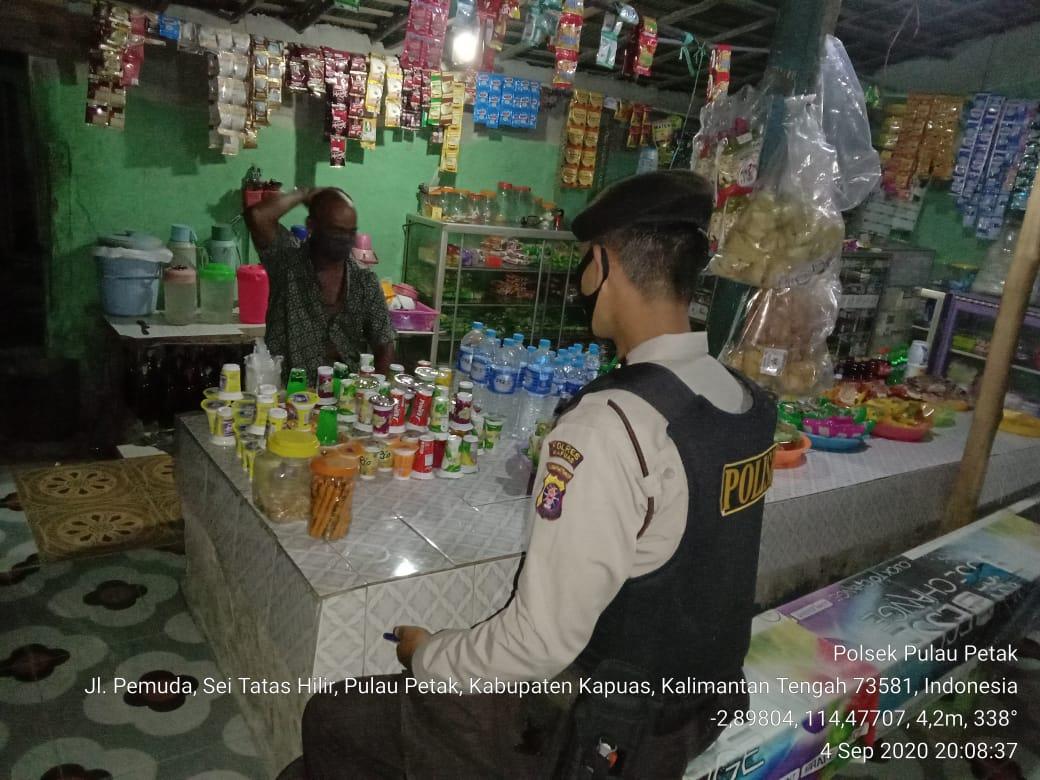 Polsek Pulau Petak Polres Kapuas Patroli Rawan Malam