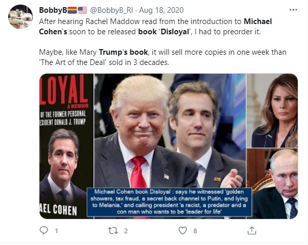 Disloyal: Michael Cohen's Trump book